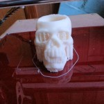 Skull shotglass being printed