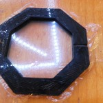 Your plastic should be nice and smooth after being clamped. Its also a good idea to put a bead of Weldit all around to keep it waterproof.