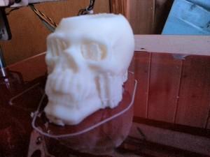 Skull shotglass being printed